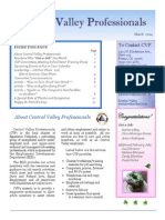 CVP March 2014 Newsletter & Career Advice Articles