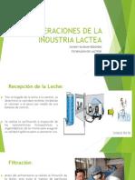 Diapositivas Operaciones de La Industria Lactea