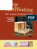 Taunton's Fine Woodworking 18th-Century Six-Board Chest