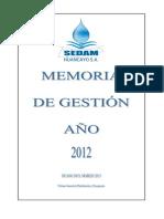 Memoria de gestión 2012