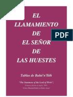 EL LLAMAMIENTO DEL SEÑOR DE LAS HUESTES