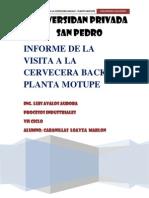 Informe de Visita Tecnica a Cervecera Backus - Plata Motupe (1)