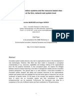 Technological Innovation Systems and the Resource Based View