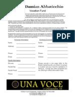 Seminarian Application