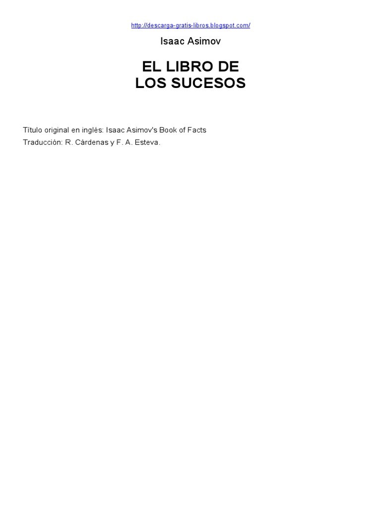 El Libro de Los Sucesos