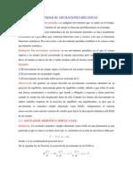 RESUMEN DE LA UNIDAD III. OSCILACIONES   MECÁNICAS