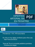 Hipertensión arterial sistémica  en pediatría