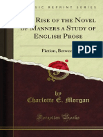 The Rise of the Novel of Manners a Study of English Prose 1000728496