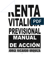 Renta Vitalicia Previsional Manual de Acción