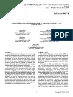 Axial Turbine Flow Path Design for an Organic Rankine Cycle Using R 245FA