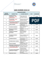 Courses in English 2013-14
