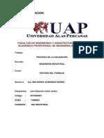 TRABAJO DE Estudio del trabajo-JUAN NUÑEZ CASTRO