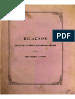 Giuseppe Pasquale, Relazione sullo stato fisico economico agrario