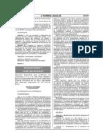 PERÚ Modifica Plan Maestro y concursos - DS N°058-2010-MTC