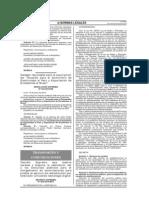 PERÚ Reserva TVD y concurso público - DS N°025-2010-MTC