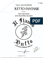 Doppler Rigoletto Fantasie for Flute