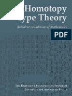 Homotopy Type Theory - Univalent Foundations of Mathematics, IAS