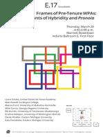 E.17, Polymorphic Frames of Pre-Tenure WPAs