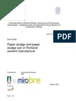 Portland Cement Paper Sludge