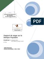 Rapport de Stage Sur La Banque Populaire