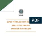 CTDesporto - 2010 - Critérios de Avaliação