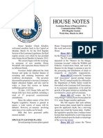 2014 House Notes Week One