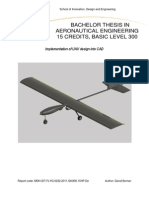 Implementation of UAV Design Into CAD Thesis