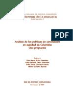 RJCTC.2005. Analisis de Las Politicas de Conciliacion en Equidad en Colombia. Una Propuesta