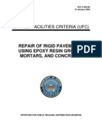 UFC 3-250-06 Repair of Rigid Pavements Using Epoxy Resin Grouts, Mortars and Concretes (01!16!2004)