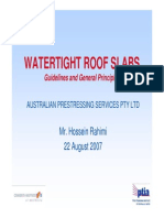 Watertight Roof Slabs Guidelines & General Principles