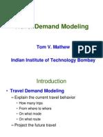 Travel Demand Modeling