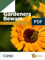 BeePesticideImidaclopridFriendsOfEarthGardeners Beware Report