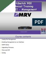 MRV Training - OS900 Management