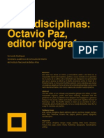 Octavio Paz Transdisciplinas