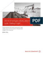 BAIN BRIEF 2014 Oil and Gas Industry Planning Cycle