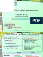 Hashing Based DictionaryImplementations