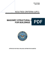 UFC 3-310-05A Masonry Structural Design for Buildings (03!01!2005)
