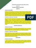 Resumen Opiniones Generales y Relfexiones Finales