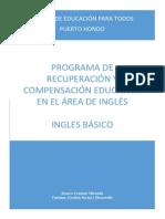 Recuperación y Compensación Educativa Inglés
