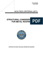 UFC 3-320-03A Structural Considerations for Metal Roofing (03!01!2005)