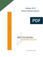 Catalogo 2013 Normas Chilenas Vigentes Al 31 Agosto Por ICS