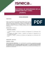 AU004 AUDITOR SISTEMAS DE SEGURIDAD DE LA INFORMACIÓN