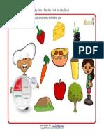 Kids My Plate Worksheets Fruit Group