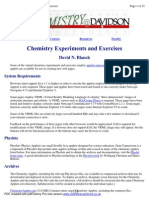Virtual Chemistry Experiments and Exercises