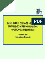 Gestión de Aguas II - Bases para el diseño de sistemas de tratamiento