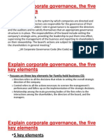 Explain Corporate Governance, The Five Key Elements