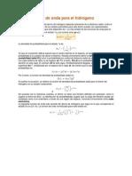 Las funciones de onda para el hidrógeno