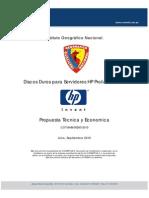Cotizacion AHB-00260-10 - HP Discos Duros SAS 300GB - Instituto Geografico Nacional