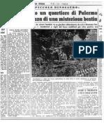 Dinosauroide visualizado en Palermo, Sicilia, 1965,