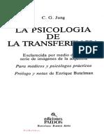 Carl Gustav Jung - La Psicologia de La Transferencia